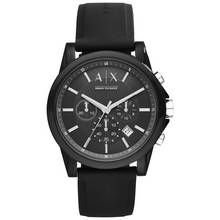 Armani Exchange Men's Black Silicone Chronograph Watch Best Price, Cheapest Prices