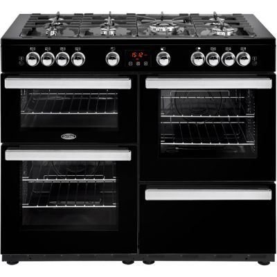 Belling Cookcentre110G 110cm Gas Range Cooker - Black - A/A Rated Best Price, Cheapest Prices