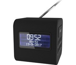 KITSOUND Cube Portable DAB+/FM Clock Radio - Black Best Price, Cheapest Prices