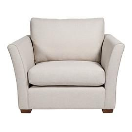 Argos Home Dawson Fabric Cuddle Chair - Natural Best Price, Cheapest Prices