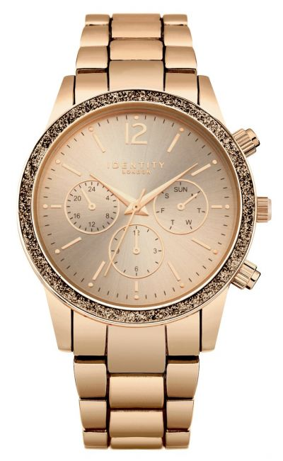 Identity Ladies Rose Gold Coloured Bracelet Watch Best Price, Cheapest Prices