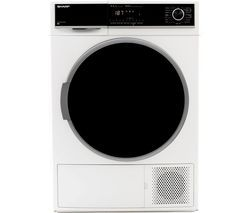 SHARP KD-HHH9S7GW2-EN 9 kg Heat Pump Tumble Dryer - White Best Price, Cheapest Prices