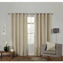 Julian Charles Ritz Natural Lined Eyelet Curtains