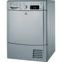 Indesit IDCE8450BSH 8kg Freestanding Condenser Tumble Dryer - Silver Best Price, Cheapest Prices