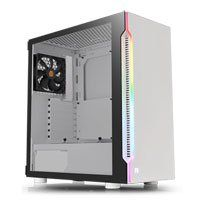 Thermaltake H200 Snow Midi Chassis, Tempered Glass, RGB, 120mm Fan, USB 3.0, ATX/MicroATX/Mini-ITX Best Price, Cheapest Prices