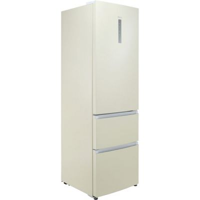 Haier A3FE635CCJ 60/40 Frost Free Fridge Freezer - Cream - A+ Rated Best Price, Cheapest Prices