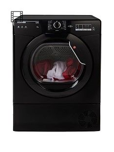 Hoover Link HLC8LGB 8kg Condenser Sensor Tumble Dryer with One Touch - Black Best Price, Cheapest Prices