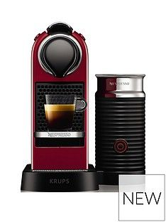 Nespresso Nespresso By Krups Citiz &Amp; Milk Xn761540 Pod Coffee Machine - Cherry Red Best Price, Cheapest Prices