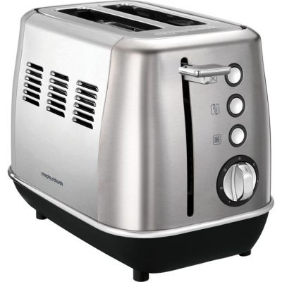 Morphy Richards Evoke 224406 2 Slice Toaster - Brushed Steel Best Price, Cheapest Prices