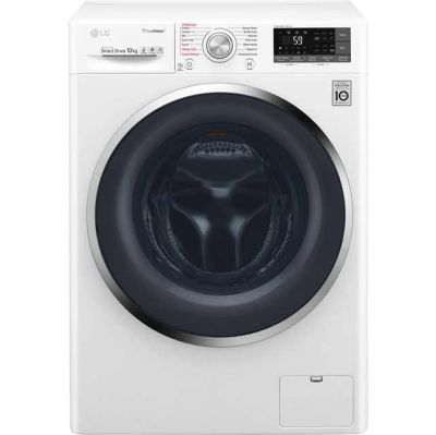 LG TrueSteam™ F4J8JS2W Wifi Connected 10Kg Washing Machine with 1400 rpm - White - A+++ Rated Best Price, Cheapest Prices