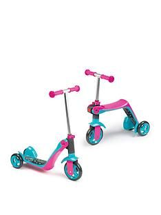 Smoby Reversible 2-in-1 Scooter – Pink Best Price, Cheapest Prices