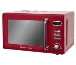 RUSSELL HOBBS RHRETMD706R Solo Microwave - Red Best Price, Cheapest Prices