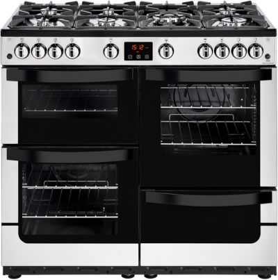 Newworld Vision 100G 100cm Gas Range Cooker - Stainless Steel - A/A Rated Best Price, Cheapest Prices