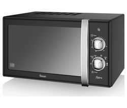 SWAN SM22130BN Solo Microwave - Black Best Price, Cheapest Prices