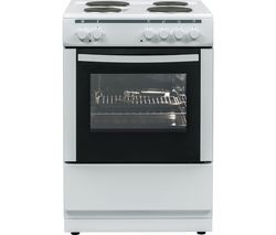 ESSENTIALS CFSE60W17 60 cm Electric Cooker - White Best Price, Cheapest Prices