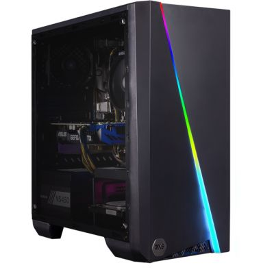 3XS Cyclone 1660 RGB Gaming Tower - Black Best Price, Cheapest Prices