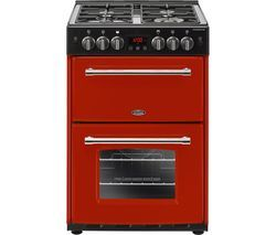 BELLING Farmhouse 60G Gas Cooker - Jalapeno & Black Best Price, Cheapest Prices