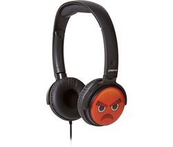 GROOV-E GV-EMJ11 EarMOJI's Angry Face Kids Headphones - Black Best Price, Cheapest Prices
