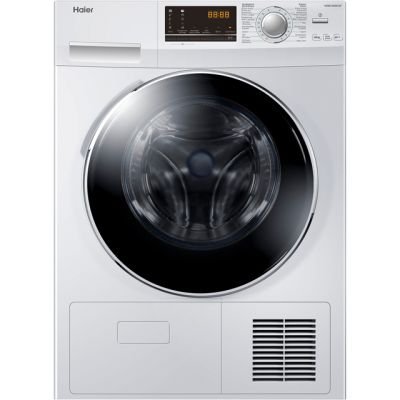 Haier HD90-A636 9Kg Heat Pump Tumble Dryer - White - A++ Rated Best Price, Cheapest Prices