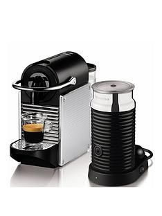 Nespresso Pixie Coffee Machine and Aeroccino by Magimix - Aluminium Best Price, Cheapest Prices