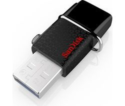 SANDISK Ultra Dual USB 3.0 & Micro USB Memory Stick - 32 GB, Black Best Price, Cheapest Prices