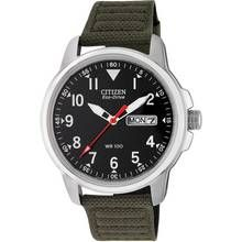 Citizen Men's Eco-Drive Analogue Green Canvas Strap Watch Best Price, Cheapest Prices