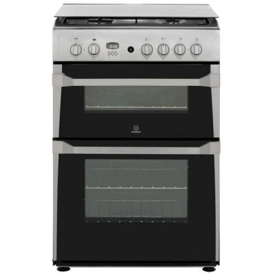 Indesit Advance ID60G2X Gas Cooker - Stainless Steel - A+ Rated Best Price, Cheapest Prices