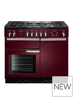 Rangemaster  PROP100DFFCY Professional Plus 100cm Wide Dual Fuel Range Cooker - Cranberry Best Price, Cheapest Prices