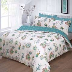 Argos Home Summer Cactus Bedding Set - Double Best Price, Cheapest Prices