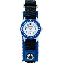 Constant Black and Blue Nylon Velcro Strap Football Watch Best Price, Cheapest Prices