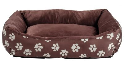 Paw Print Square Pet Bed - Medium Best Price, Cheapest Prices