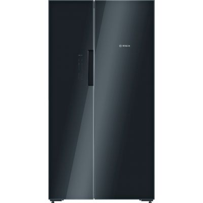 Bosch Serie 8 KAN92LB35G American Fridge Freezer - Black / Glass - A++ Rated Best Price, Cheapest Prices