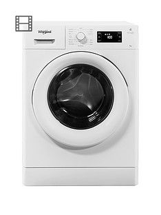 Whirlpool FreshCare+FWG81496W8kg Load, 1400 Spin 6th Sense Washing Machine - White Best Price, Cheapest Prices