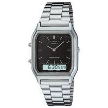 Casio Silver Stainless Steel Bracelet Dual Time Watch Best Price, Cheapest Prices