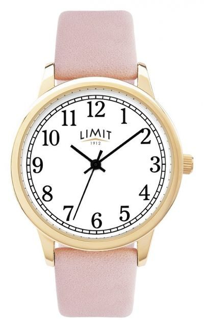 Limit Ladies Pink Faux Leather Strap Watch Best Price, Cheapest Prices