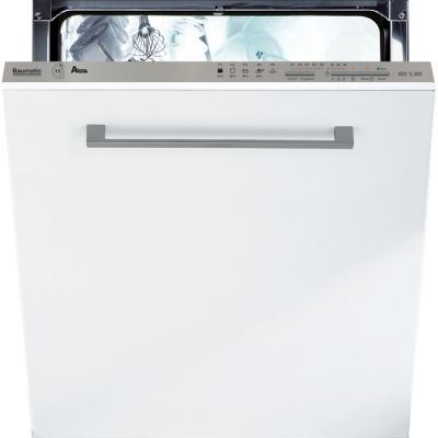 Baumatic BDI1L38S Fully Integrated Standard Dishwasher - Silver Control Panel with Fixed Door Fixing Kit - A+ Rated Best Price, Cheapest Prices