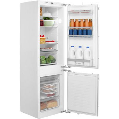 Bosch Serie 4 KIN86VF30G Integrated 60/40 Frost Free Fridge Freezer with Fixed Door Fixing Kit - White - A++ Rated Best Price, Cheapest Prices