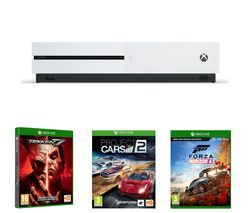 MICROSOFT Xbox One S, Forza Horizon 4, Tekken 7 & Project Cars 2 Bundle Best Price, Cheapest Prices