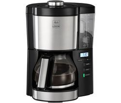 MELITTA Look V Timer Filter Coffee Machine - Black & Stainless Steel Best Price, Cheapest Prices