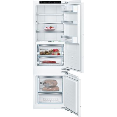 Bosch Serie 8 KIF87PF30 Integrated 70/30 Fridge Freezer with Fixed Door Fixing Kit - White - A++ Rated Best Price, Cheapest Prices