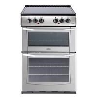 Belling Enfield E552 55cm Double Oven Electric Cooker With Ceramic Hob - Silver Best Price, Cheapest Prices