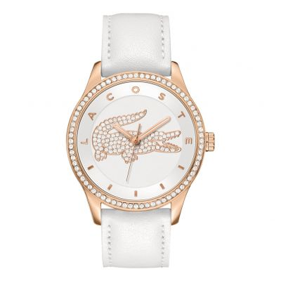 Lacoste Ladies White Leather Strap Watch Best Price, Cheapest Prices