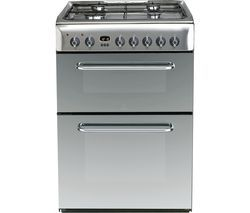 INDESIT KDP60SES 60 cm Dual Fuel Cooker - Mirror & Stainless Steel Best Price, Cheapest Prices