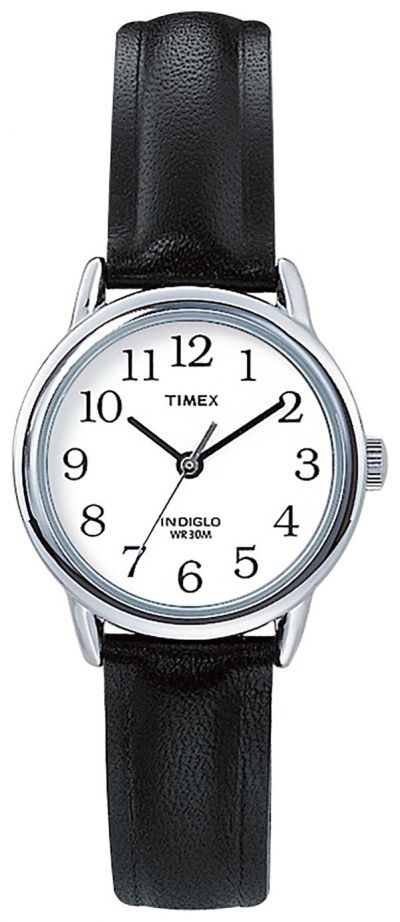 Timex Ladies Easy Reader Black Leather Strap Watch Best Price, Cheapest Prices
