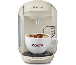 TASSIMO by Bosch Vivy2 TAS1407GB Hot Drinks Machine - Cream Best Price, Cheapest Prices