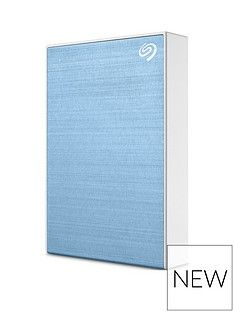 Seagate Seagate 4TB Backup Plus Slim Portable Hard Drive - Light Blue Best Price, Cheapest Prices