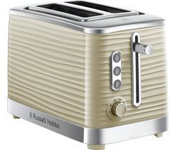 RUSSELL HOBBS Inspire 24374 2-Slice Toaster - Cream Best Price, Cheapest Prices