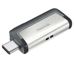 SANDISK Ultra USB Type-C & USB 3.1 Dual Memory Stick - 32 GB, Silver Best Price, Cheapest Prices
