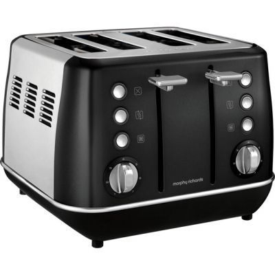 Morphy Richards Evoke 240105 4 Slice Toaster - Black Best Price, Cheapest Prices
