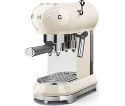 SMEG ECF01CRUK Coffee Machine - Cream Best Price, Cheapest Prices
